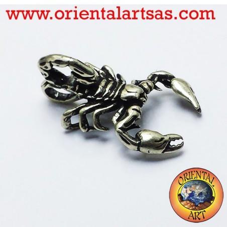 Scorpio pendant in three-dimensional silver