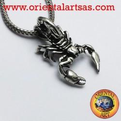 Ciondolo Scorpione tridimensionale in argento