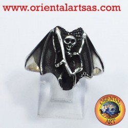 Zombie ring the afterlife death in silver