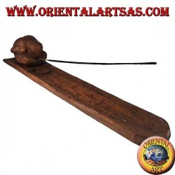 Brucia incenso, yogi in legno di suar