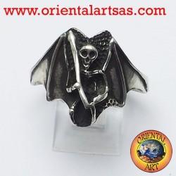 Anello Zombie la morte oltretomba in argento