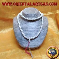108-grain Buddhist Mālā rosary made of yak bone