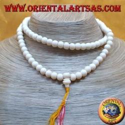 Mālā rosario buddista da 108 Grani da 8 mm. in osso di yak