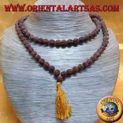 Mālā rosario buddista da 108 Grani da 8 mm. in semi di Rudra