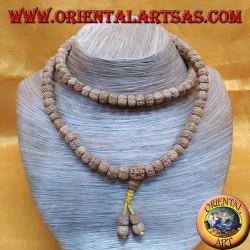 Mālā rosario buddista da 108 Grani da 9,5 mm. in semi di Body chiaro