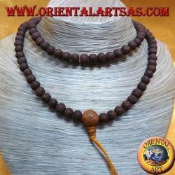 Buddhist Mālā 108 Perlen 9,5mm Perlen. in dunklen Körpersamen