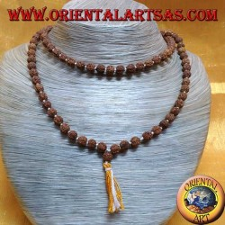 Buddhist Mālā 108 beads of 7 mm. in Rudra seeds individually knotted