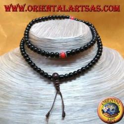 Buddhist Mālā 108 Perlen von 7 mm. in Onyx