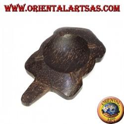 Schildkrötenaschenbecher in Kokosnussholz