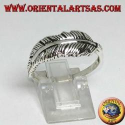 Anello in argento a forma di piuma indiana