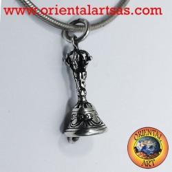 Colgante de campana o de plata tibetano Gantha
