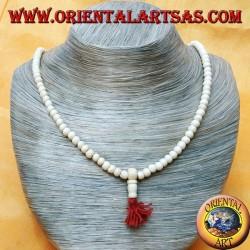 Mālā (Japamālā) rosario buddista da 108 Grani da 6 mm. in osso di Yak