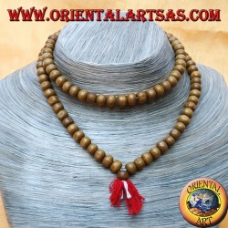 Mālā (Japamālā) Buddhist rosary of 108 Grains of 7 mm. rosewood