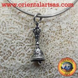 Ciondolo Campana o gantha tibetano in argento