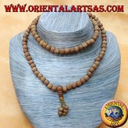 Mālā (Japamālā) Buddhist rosary with 108 Grains of 8 mm. in Ritu or Raktu seeds and a tuft of seeds