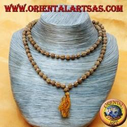 Buddhist Mālā 108 Perlen von 6 mm. in Rudra Samen einzeln geknotet