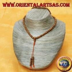 Mālā (Japamālā) Buddhistischer Rosenkranz von 108 Körnern von 5 mm. aus hellrosa Holz