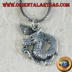 Ciondolo in argento, drago del Capodanno cinese