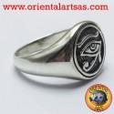 Anello Occhio di horus argento