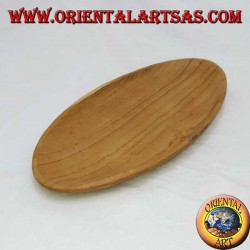 Pocket tray oval teak wood (large)
