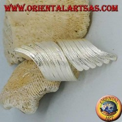 Silberring mit breitem, spiralförmigem Rippenband, Karen