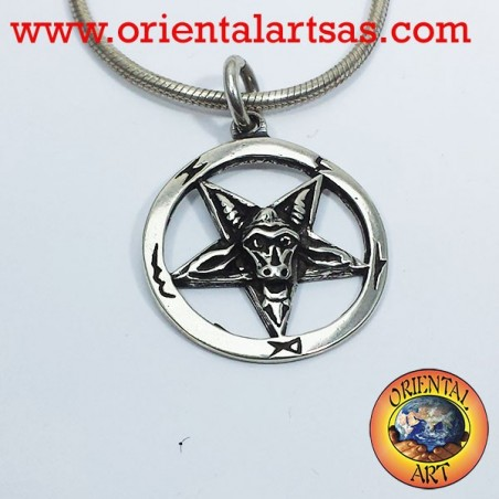 Goat of Mendes pentacle pendant in silver