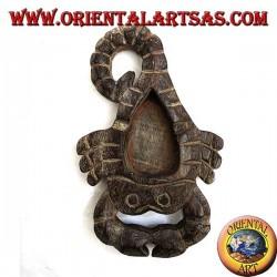 Posacenere a forma di scorpione in legno di Teak