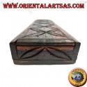 Rectangular box with sliding opening in ebony wood (large)