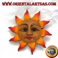 Soleil de mur de couleur chaude (petit)