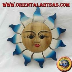 Прохладный цвет настенного солнца (большой)