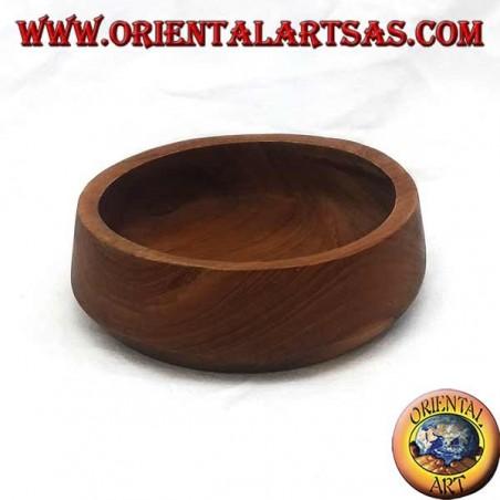 Low bowl in teak wood