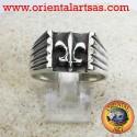 Anello simbolo del giglio in Argento 925