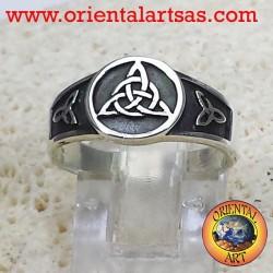 Celtic nodo nudo anillo de plata triskell Tyrone