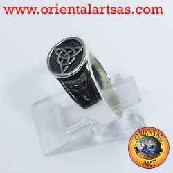 Celtic knot ring triskell node Tyrone silver