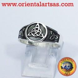 Anello nodo celtico triskell nodo Tyrone in argento