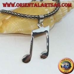 Ciondolo in argento coppia di crome (note musicali)