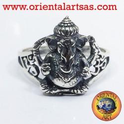 Anillo de plata Ganesh