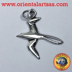 Swallow pendant in silver