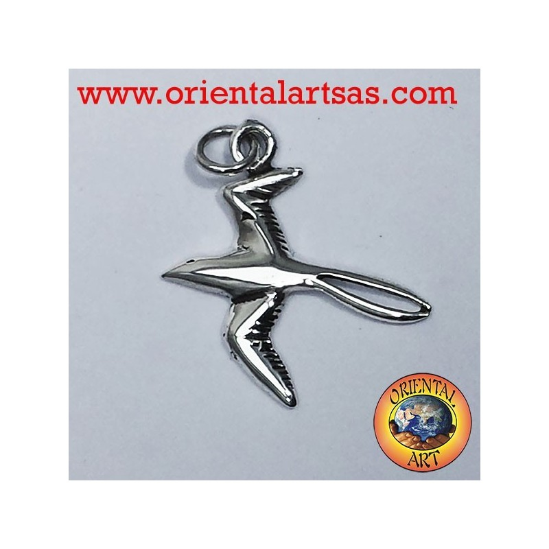 Swallow pendant in silver