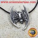 Ciondolo Pipistrello con testa in giù in argento