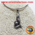 Pendant Wolf howling silver