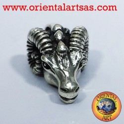 Pendant head of Aries RAM silver