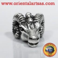 Ciondolo testa di Ariete in argento, testa di RAM