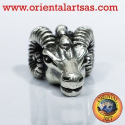 Pendant head of Aries RAM silver