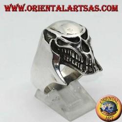 Серебряное кольцо инопланетного черепа (хищник)