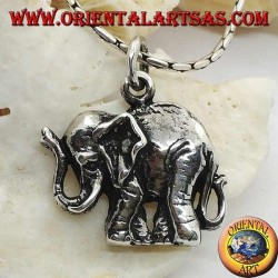 Colgante de plata con forma de elefante indio