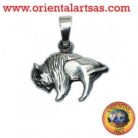 Ciondolo Bisonte Americano in argento