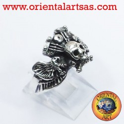 skull ring with eagle engine Harley Davidson