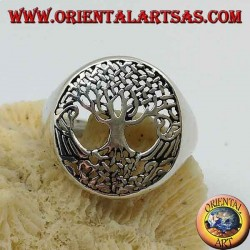 Silver tree of life ring (medium)