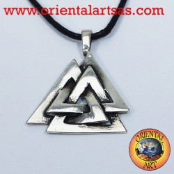 The Valknut Pendant Celtic or Odin's knot silver